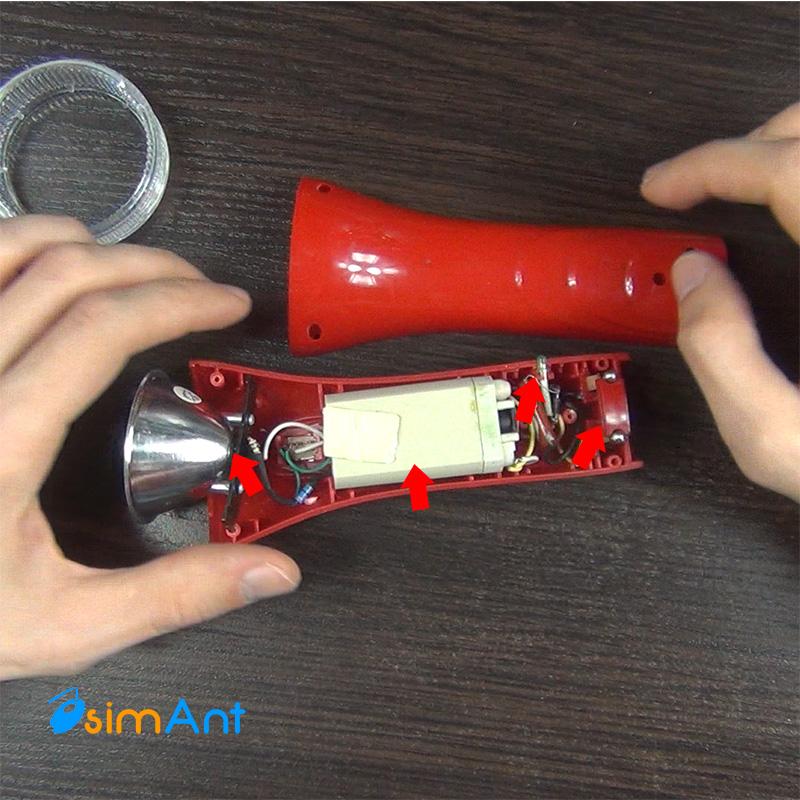 Аккумуляторный фонарик в