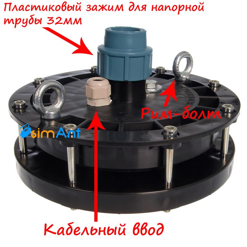 Оголовок скважинный ОС 125-133/32мм вид сбоку