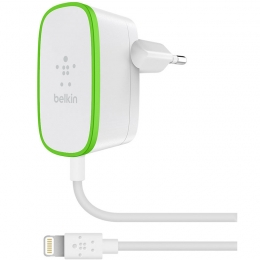 Фото Сетевое ЗУ Belkin USB Home Charger 2.4A c кабелем Lightning (F8J204vf06-WHT)
