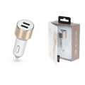 Фото Автомобильное ЗУ Kit Platinum Dual USB Charger (USB 3.4 A), Gold (USBCCALU3GD)